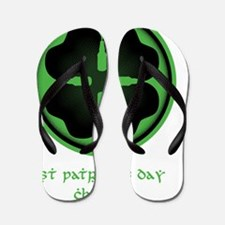 Beer Clover (For Black Shirts) Flip Flops