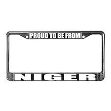 Niger License Plate Frame