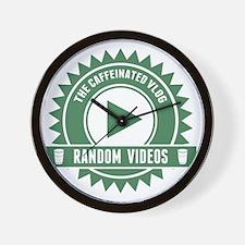 Caffeinated Vlog Seal Wall Clock