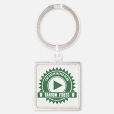 Caffeinated Vlog Seal Square Keychain