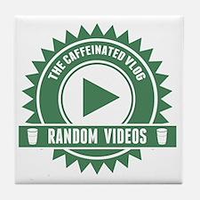 Caffeinated Vlog Seal Tile Coaster