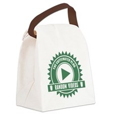 Caffeinated Vlog Seal Canvas Lunch Bag