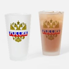 Russian Eagle Drinking Glass
