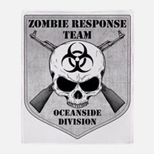 Zombie Response Team Oceanside Throw Blanket