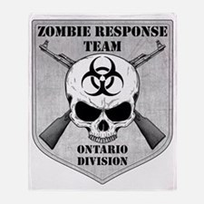 Zombie Response Team Ontario Throw Blanket