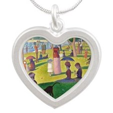 RM Seurat J2 Silver Heart Necklace