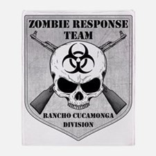 Zombie Response Team Rancho Cucamong Throw Blanket