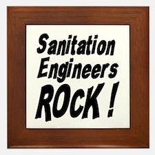 Sanitation Engineers Rock ! Framed Tile