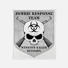 Zombie Response Team Winston-Salem Throw Blanket