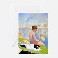K/N Seurat Bathers Greeting Card