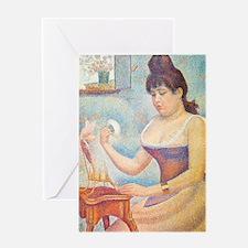 Journal Seurat Powder Greeting Card