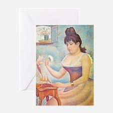 K/N Seurat Powder Greeting Card