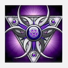 Triple Goddess - purple - stadium bla Tile Coaster