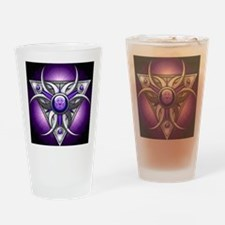 Triple Goddess - purple - stadium b Drinking Glass