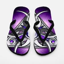 Triple Goddess - purple - stadium blank Flip Flops