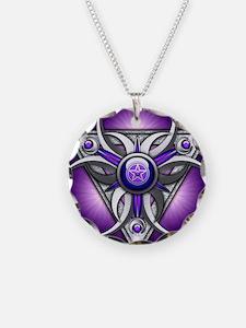 Triple Goddess - purple - st Necklace