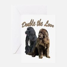 two newfslove Greeting Card