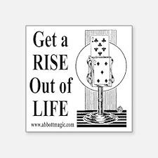 """Get A Rise Square Sticker 3"""" x 3"""""""