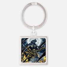 wolfshirt Square Keychain