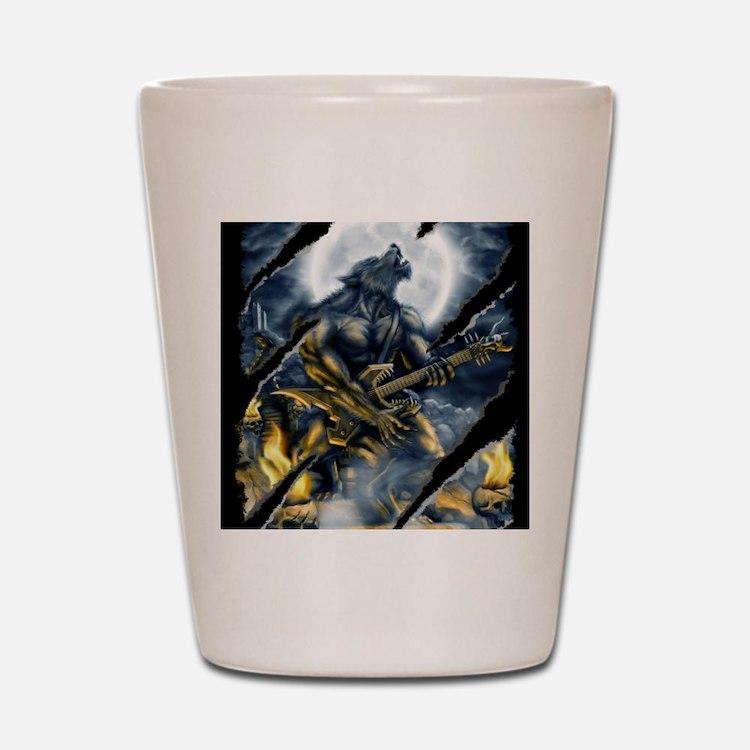 wolfshirt Shot Glass