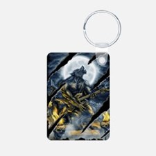 wolfshirt Aluminum Photo Keychain