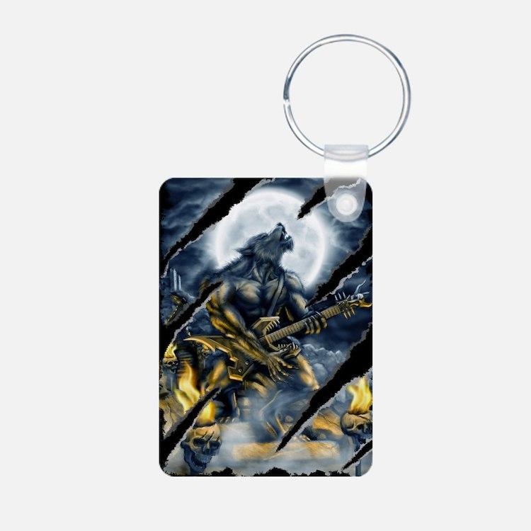 wolfshirt Aluminum Photo Keychain