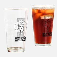 Get A Rise Dark Drinking Glass