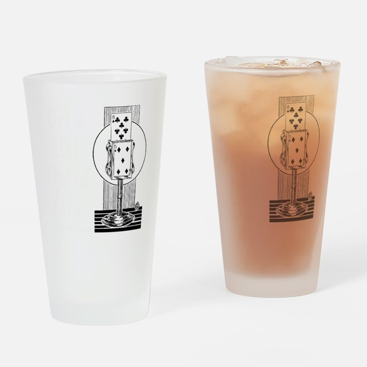 Get A Rise Dark Drinking Glass