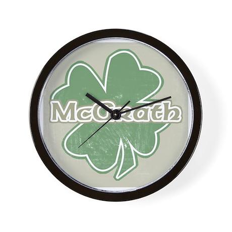 """Shamrock - McGrath"" Wall Clock"