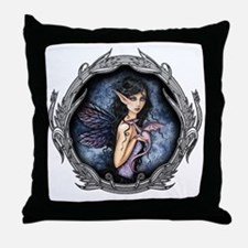 amethyst dragon in frame for water bo Throw Pillow