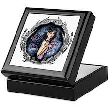 amethyst dragon in frame for water bo Keepsake Box