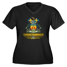 Christchurch Women's Plus Size Dark V-Neck T-Shirt