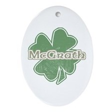 """Shamrock - McGrath"" Oval Ornament"