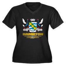 Hamilton (Fl Women's Plus Size Dark V-Neck T-Shirt