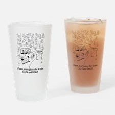 catsanddogs Drinking Glass