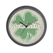 """Shamrock - McCarthy"" Wall Clock"