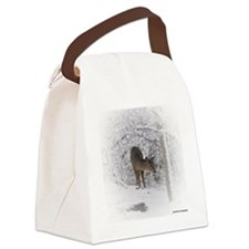 deer square Canvas Lunch Bag