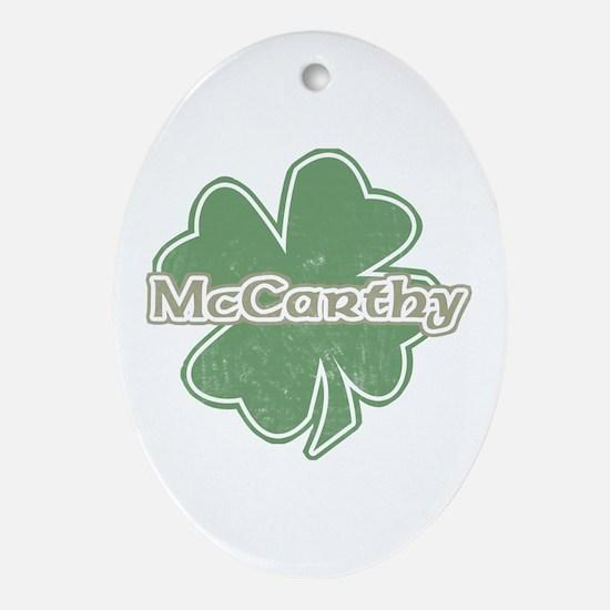 """""""Shamrock - McCarthy"""" Oval Ornament"""