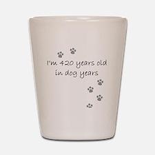 60 dog years 2-1 Shot Glass