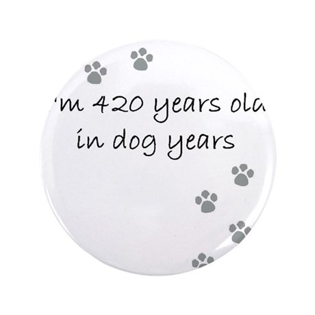 "60 dog years 2-1 3.5"" Button"