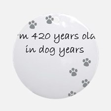 60 dog years 2-1 Round Ornament