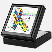 My Granddaughter is a Fighter Keepsake Box