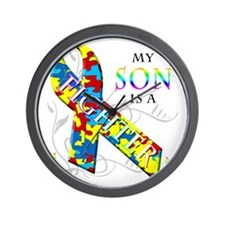 My Son is a Fighter Wall Clock