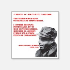 "Buenaventura_durruti LARGE Square Sticker 3"" x 3"""