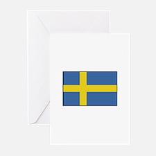 Sweden - Flag Greeting Cards (Pk of 10)