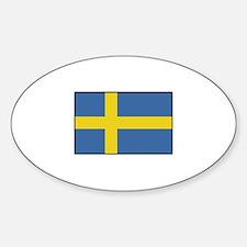 Sweden - Flag Oval Decal