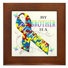 My Brother is a Fighter Framed Tile