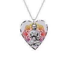 buddha Necklace Heart Charm