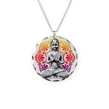 buddha Necklace Circle Charm