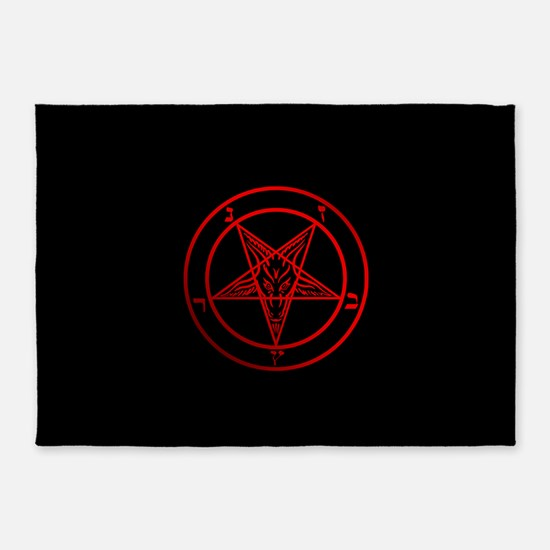 Satanic Pentagram 5'x7'Area Rug